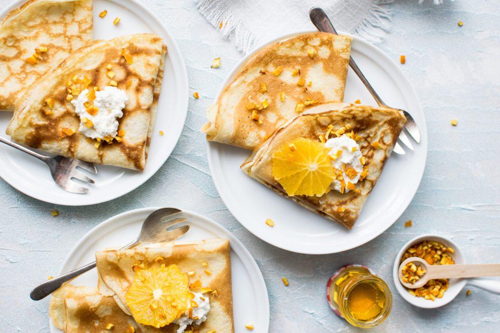 chandeleur crêpes assiettes